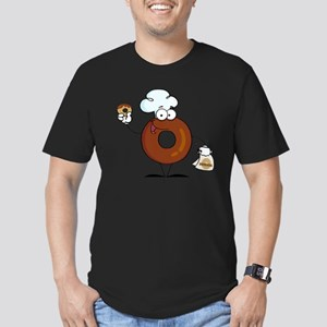 Doughnut_0018 Men's Fitted T-Shirt (dark)