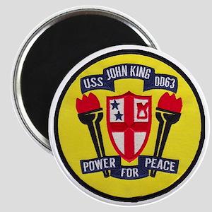 uss john king patch transparent Magnet