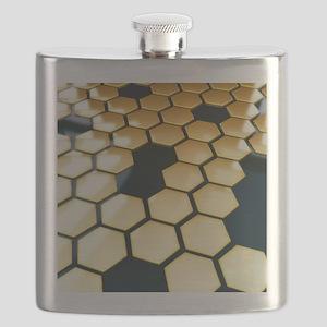 Golden Hexagons Flask
