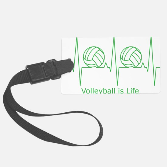 Volleyball is Life Luggage Tag