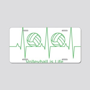 Volleyball is Life Aluminum License Plate
