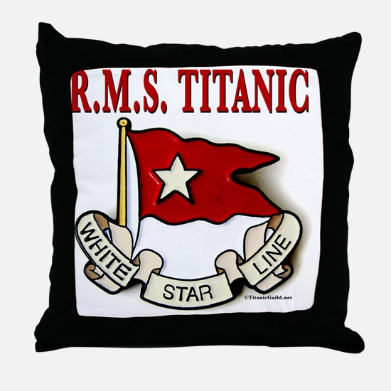 WSRMSclock14x14 Throw Pillow