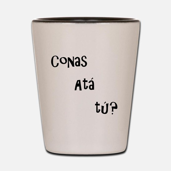 conas ata tu (how are you?) Shot Glass
