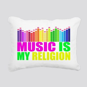 Music is My Religion Shi Rectangular Canvas Pillow
