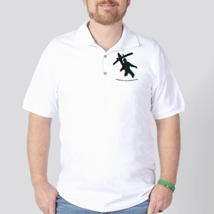 3D Freefall 1 Oval Sticker Golf Shirt