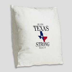 Houston TX Burlap Throw Pillow