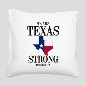Houston TX Square Canvas Pillow