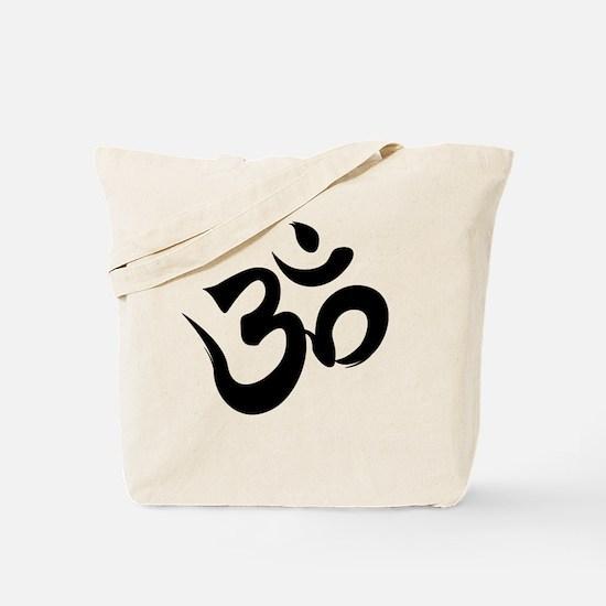 Om Black Tote Bag