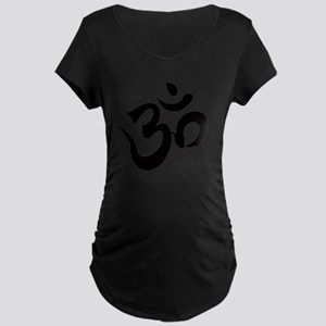 Om Black Maternity Dark T-Shirt