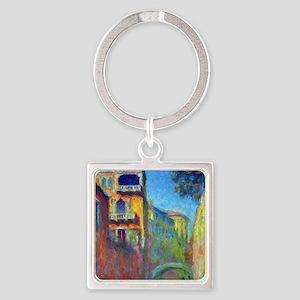 Monet Square Keychain