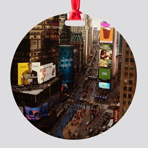 room with a view... TIMES SQUARE Round Ornament