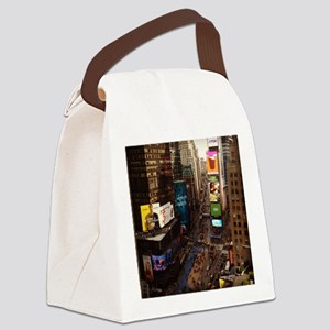 room with a view... TIMES SQUARE Canvas Lunch Bag