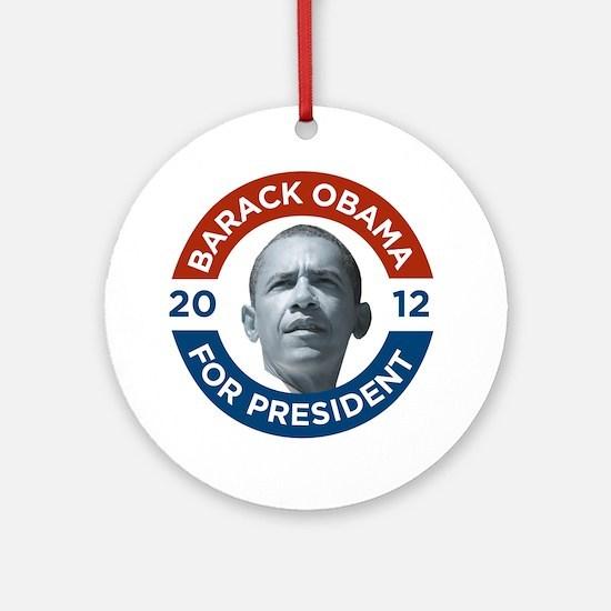 Barack Obama For President 2012 Round Ornament