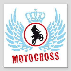 "motocross Square Car Magnet 3"" x 3"""