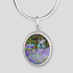 Monet Silver Oval Necklace