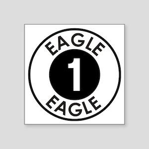 """Space: 1999 - Eagle 1 Logo Square Sticker 3"""" x 3"""""""