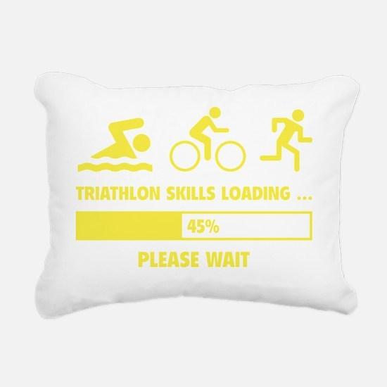 LoadingTriathlon1F Rectangular Canvas Pillow