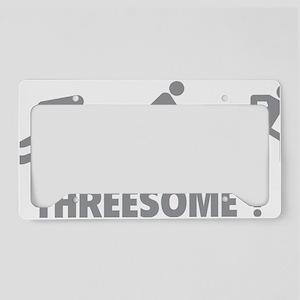 triaThreesome1C License Plate Holder