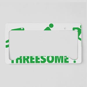 triaThreesome1D License Plate Holder