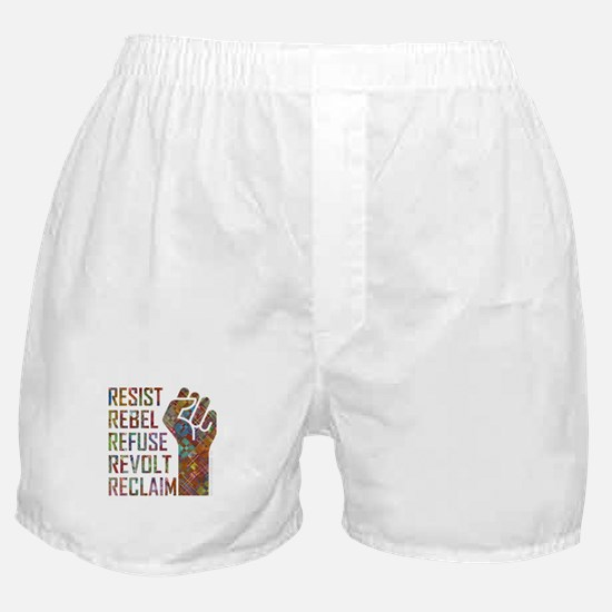 RESIST, REBEL... Boxer Shorts
