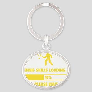 LoadingTennis1E Oval Keychain