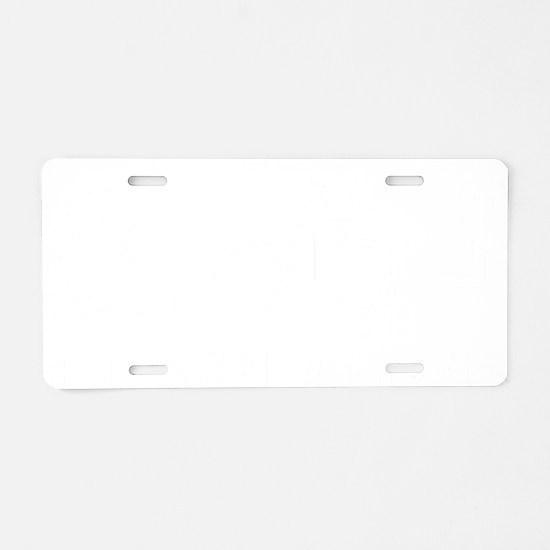 triaThreesome2B Aluminum License Plate