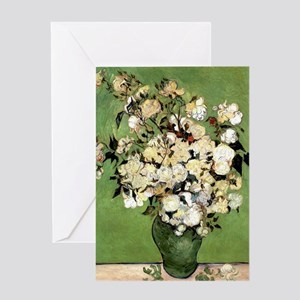 Van Gogh Roses Greeting Card