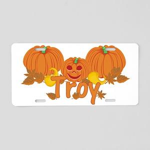 Halloween Pumpkin Troy Aluminum License Plate