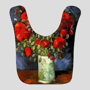 Van Gogh Red Poppies Bib