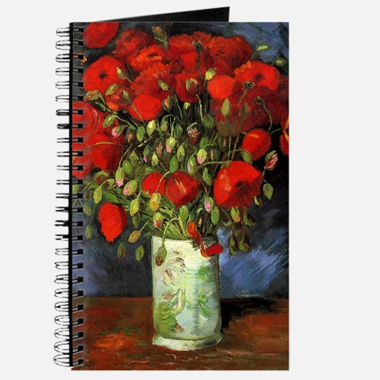 Van Gogh Red Poppies Journal