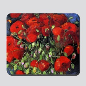 Van Gogh Red Poppies Mousepad