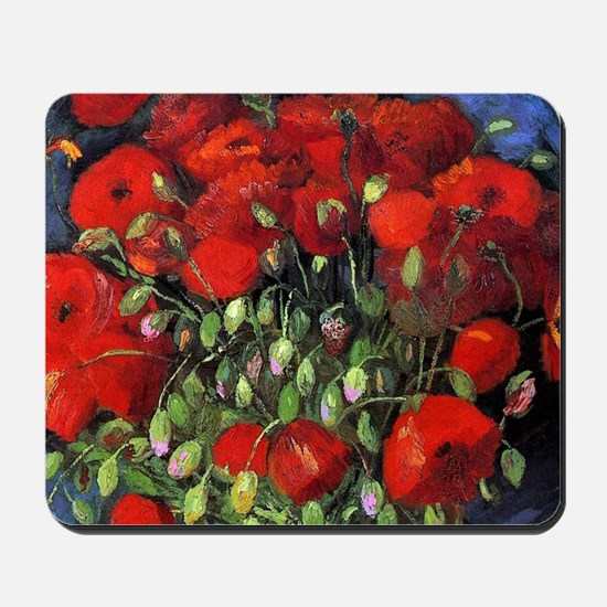 Van Gogh Red Poppies Mousepad