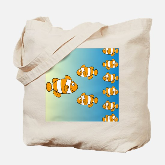 Cute Clown Fish Design Tote Bag