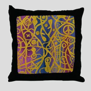 Goddess Spiderweb Painting Throw Pillow