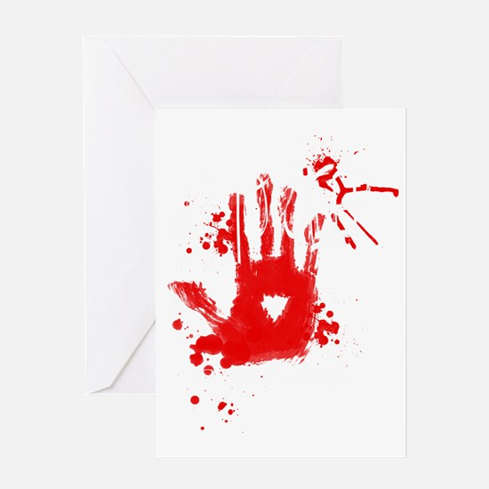 jeff the killer white Greeting Card