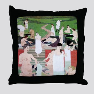 Felix Vallotton The Bath Summer Eveni Throw Pillow
