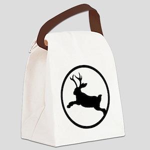 Jackalope Canvas Lunch Bag