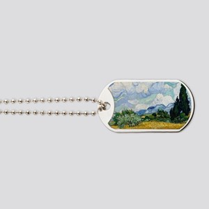 Wheat Field with Cypresses Dog Tags