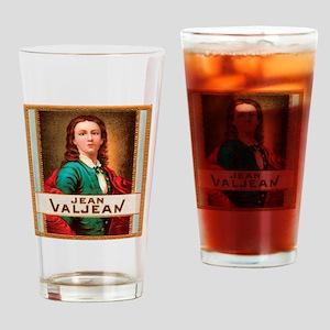 Jean Valjean Tobacco Label Drinking Glass