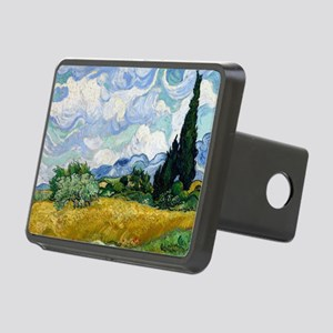 Wheat Field with Cypresses Rectangular Hitch Cover
