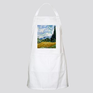 Wheat Field with Cypresses Apron