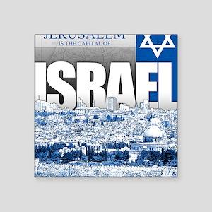 """Jerusalem, Israel Square Sticker 3"""" x 3"""""""