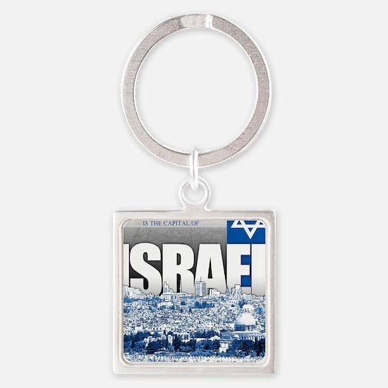 Jerusalem, Israel Square Keychain
