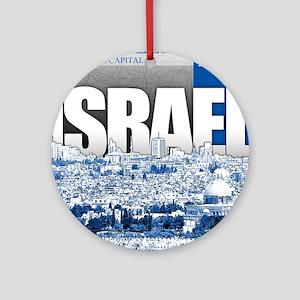 Jerusalem, Israel Round Ornament