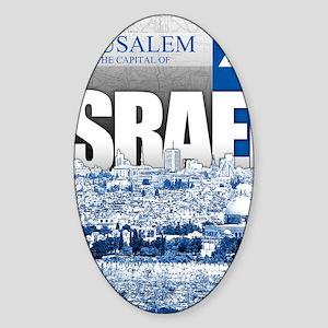 Jerusalem, Israel Sticker (Oval)