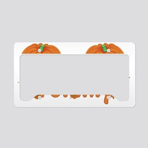 Halloween Pumpkin Tommy License Plate Holder