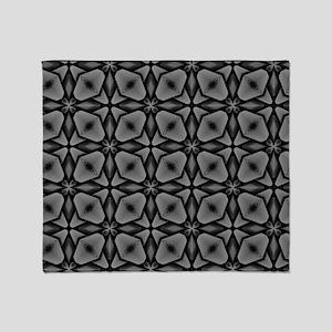 Gray Geometric Throw Blanket
