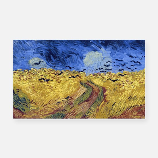 Wheatfield with Crows Rectangle Car Magnet