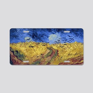Wheatfield with Crows Aluminum License Plate