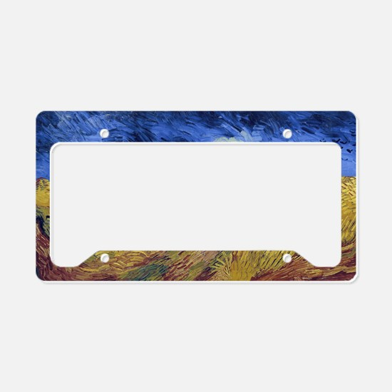 Wheatfield with Crows License Plate Holder